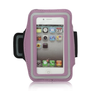Gym Running Sport Armband Case for iPhone 4 4S - Light Purple