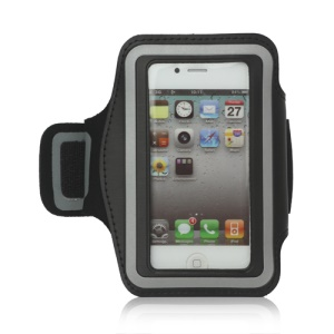 Gym Running Sport Armband Case for iPhone 4 4S - Black