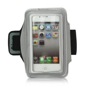 Gym Running Sport Armband Case for iPhone 4 4S - Silver