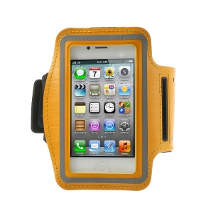 Gym Running Sport Armband Case Cover for iPhone 4 4S - Orange