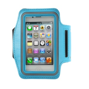 Gym Running Sport Armband Case Pouch for iPhone 4 4S - Baby Blue