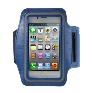 Gym Running Sport Armband Case Pouch for iPhone 4 4S - Dark Blue
