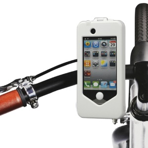 Multifunctional Bike Bicycle Handlebar Mount Hard Case for iPhone 4 4S