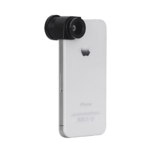 3 in 1 Clip-On Fish Eye Lens + Wide Angle + Macro Lens for iPhone 4 4S