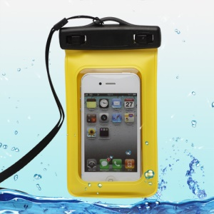 Waterproof Armband Bag Case for Samsung Galaxy S4 I9500 / Nexus I9250 / For iPhone 4S (Size:15x9cm)WP-310;Yellow
