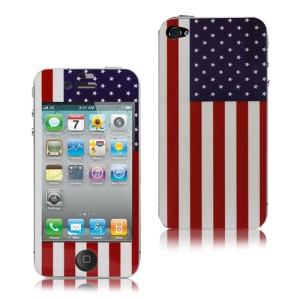 American Flag Decal Skin Sticker Cover for iPhone 4 4S