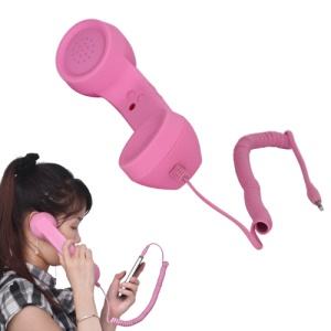 3.5mm Retro Cell Phone Handset with Volume Remote Control for iPhone 4 4S Samsung i9300 Galaxy S 3