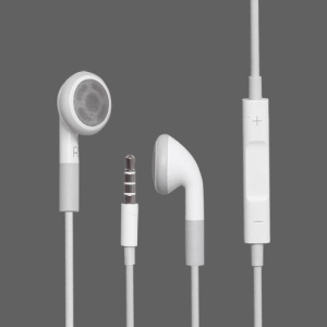 3.5mm Stereo Earphone Headphone with Remote and Mic for iPhone 4S (OEM)