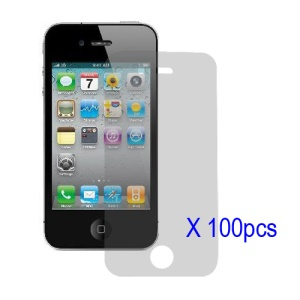 100PCS Clear LCD Screen Protector for iPhone 4 4S