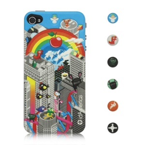 Rainbow Soft Foam Pad Skin Sticker for iPhone 4 4S