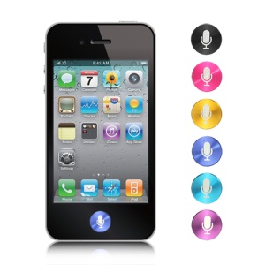 Mic Metal Home Button Sticker for iPad 1 2 3 4 Mini iPhone 5 4S 4 3GS 3G iPod Touch Series