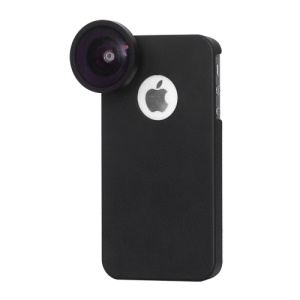 Super Wide Angle Optical Lens 0.4x + Protective Case for iPhone 4S 4