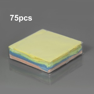 75PCS Microfiber Cleaning Cloth for Mobile Phone Screen Camera Lens