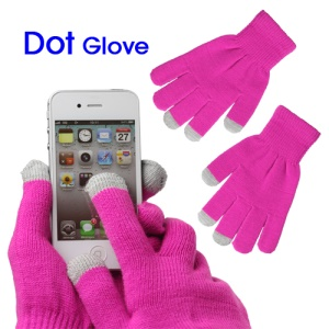 Unisex Capacitive Touch Screen Knit Gloves for iPhone 4S iPad 2 Samsung etc - Rose