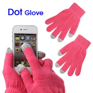 Unisex Capacitive Touch Screen Knit Gloves for iPhone 4S iPad 2 Samsung etc - Pink