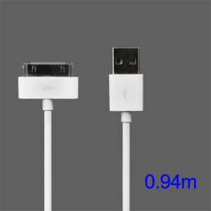 Apple Dock Connector to USB Cable for iPad/iPhone/iPod (High Quality), Length: 94cm
