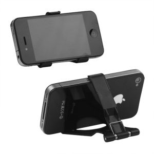 Portable Claw Style Holder for iPhone 5 4S 4 3GS 3G iPod Touch Samsung i9100 etc - Black