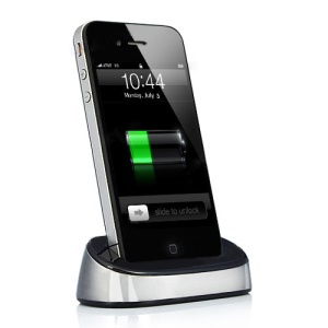 Portable Sync Cradle Charging Dock Station for iPhone 4S 4 iPod - Silver