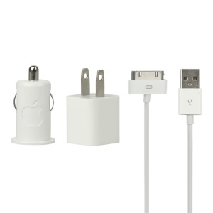 Original Car Home USB Charger Kit for Apple iPhone 4S 4 3GS 3G iPod - US Plug