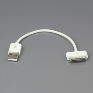 USB Data Sync Power Charge Cable for Apple iPad iPhone iPod, Length: 17cm