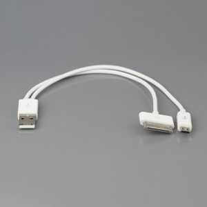 2 in 1 USB Data Sync Charger Cable for iPad iPhone iPod Samsung BlackBerry HTC