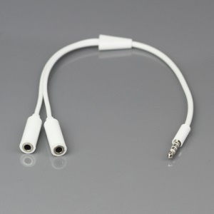3.5mm 1 Male to 2 Female Audio Splitter Cable