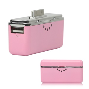 Portable 2800mAh External Battery Charger Power Bank for iPhone iPad iPod - Pink