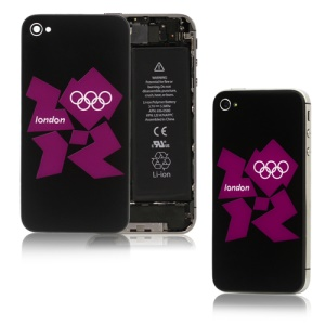 London 2012 Olympics iPhone 4S Housing with 2 Screwdrivers - Black