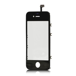 iPhone 4S Touch Screen Digitizer with Outer Frame Bezel - Black