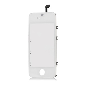 iPhone 4S Touch Screen Digitizer with Supporting Frame Bezel - White