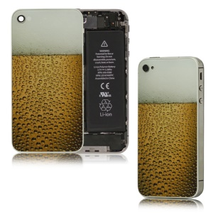 Bubble Limpid Beer Glass Back Cover Housing Replacement for iPhone 4S