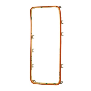 Plastic Touch Screen Digitizer Bezel Frame for iPhone 4S - Red Orange