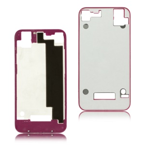 Plastic Frame Bezel for iPhone 4S Back Cover Housing - Rose