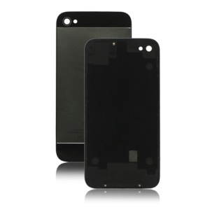 Matte Metal and Plastic Hybrid Back Cover Housing for iPhone 4S - Black / Grey