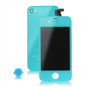 iPhone 4S Conversion Kit (LCD Assembly + Back Housing + Home Button) - Baby Blue