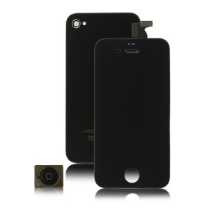 iPhone 4S LCD Assembly + Back Cover + Home Button - Black