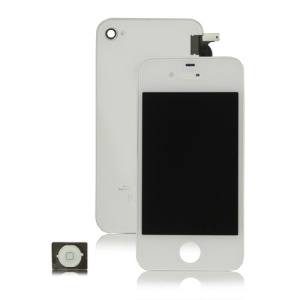 iPhone 4S LCD Assembly + Back Cover + Home Button - White