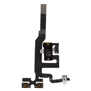 For iPhone 4S Audio Earphone Jack Flex Cable Replacement White OEM