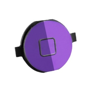 iPhone 4S Home Button Key Replacement Electroplating - Purple