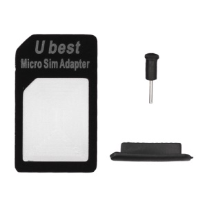 iPhone 4S / 4 Micro Sim Card Adapter + Earphone Anti-dust Plug + Dock Stopper