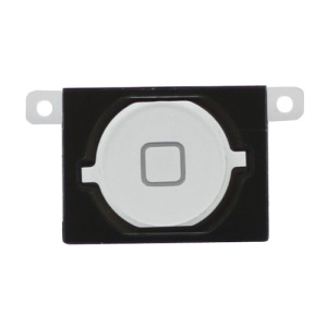 iPhone 4S Home Button Key with Rubber Ring Pad Original - White