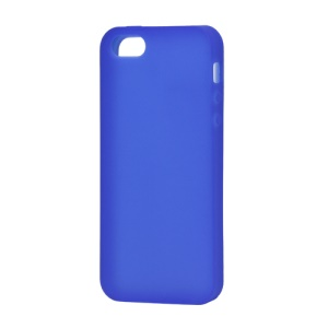 Soft Silicone Case Cover for iPhone 5 (6th Generation) - Dark Blue