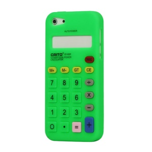 3D Calculator Silicone Cover Case for iPhone 5 - Green