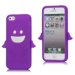 Angel Soft Silicone Rubber Case Cover for iPhone 5 - Purple