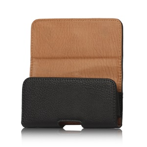 PU Leather Belt Clip Holster Pouch Case for iPhone 5 5s;Black