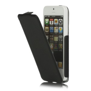 Vertical PU Leather Cover Case for iPhone 5