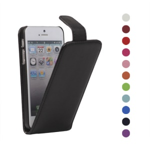Vertical PU Leather Flip Case Cover for iPhone 5 5s;Red