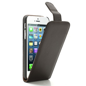Coffee For iPhone 5 5s Magnetic Vertical Flip Leather Case Cover