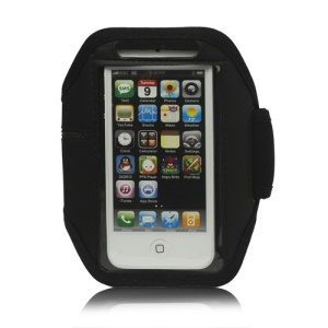 Sport Armband Jogging Workout Case Cover Protector for iPhone 5 - Black