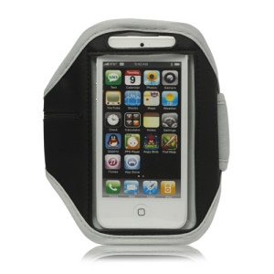 Sport Armband Jogging Workout Case Cover Protector for iPhone 5 - Grey
